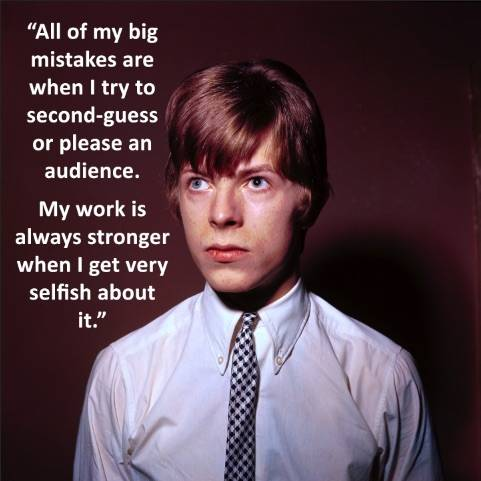 Bowie Selfish Quote