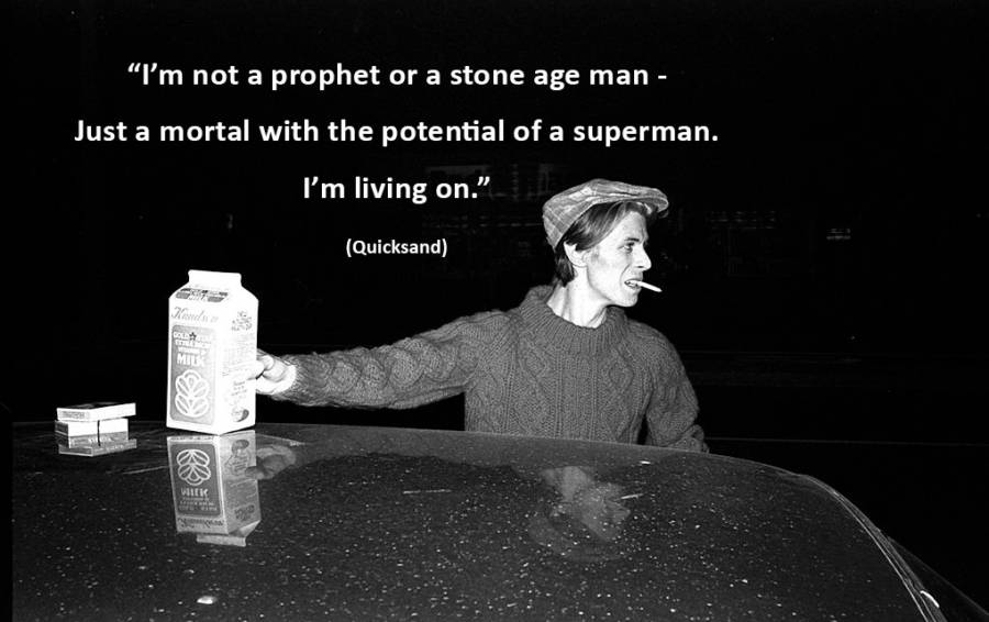 Bowie Stoneage Quote