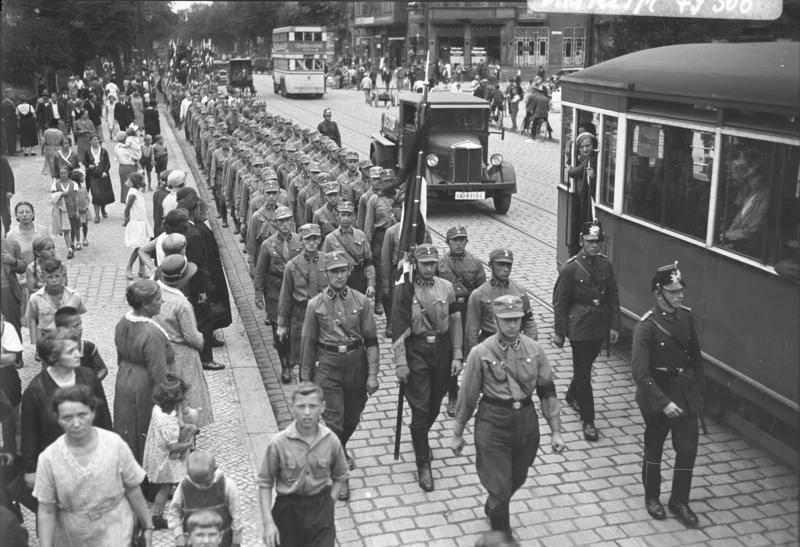 Brownshirts Marching