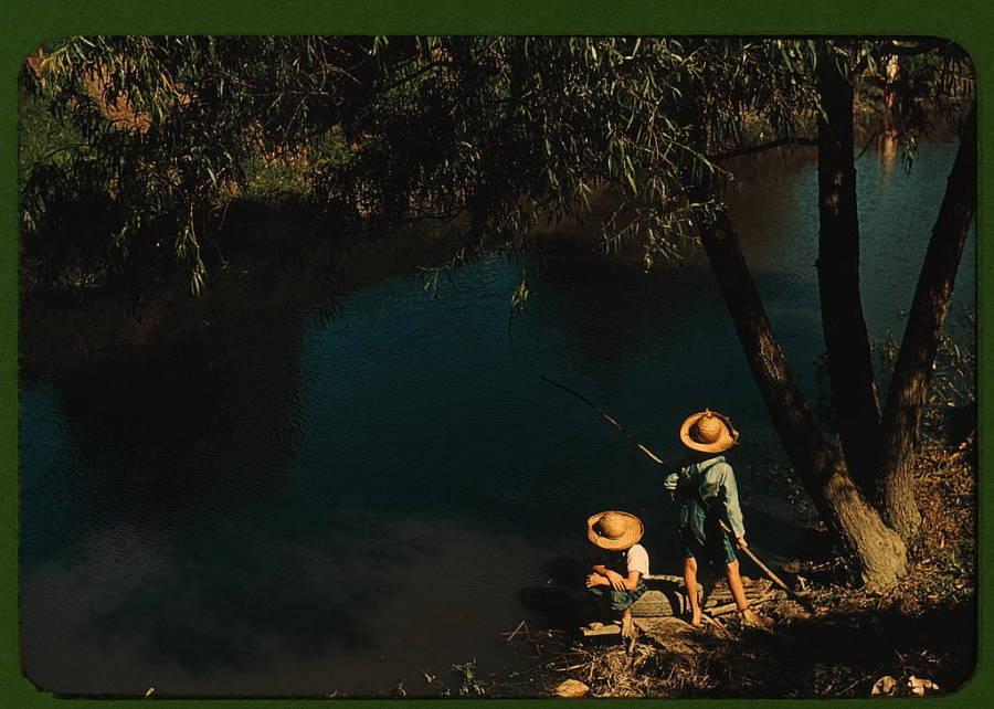 Cajun Children Fishing