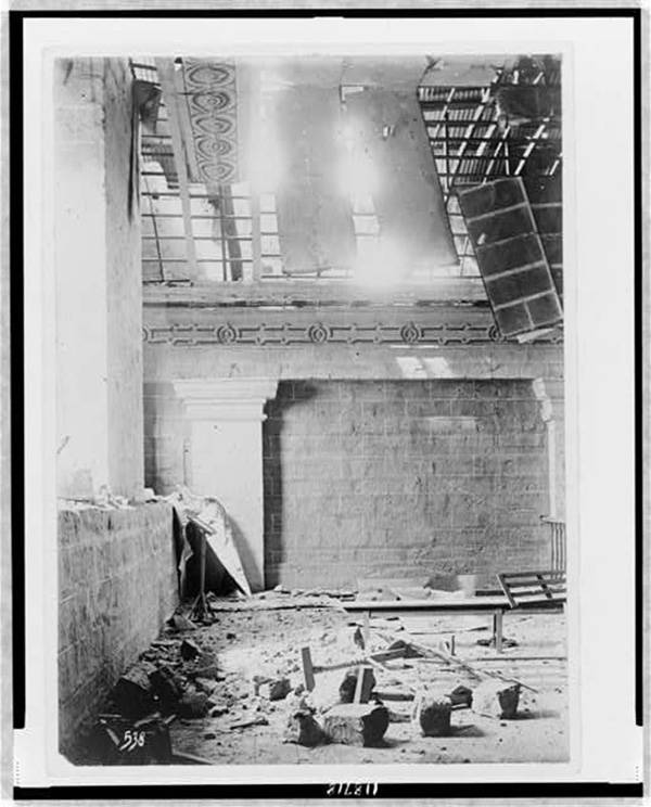 Church Interior After Bombardment
