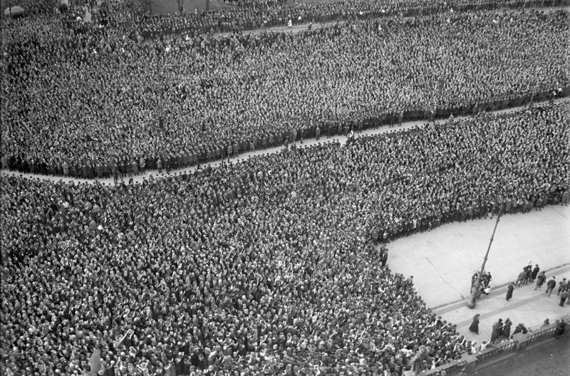Crowd Listening To Hitler