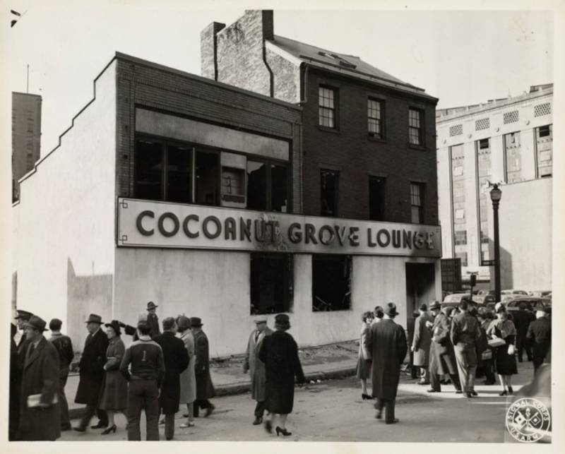 Crowd Outside Cocoanut Grove