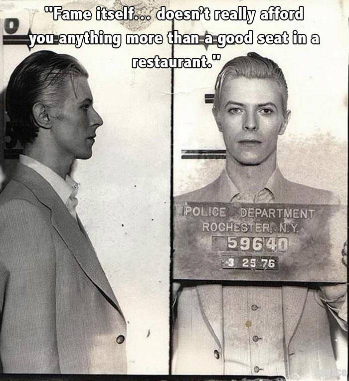 David Bowie Quotes Mugshot