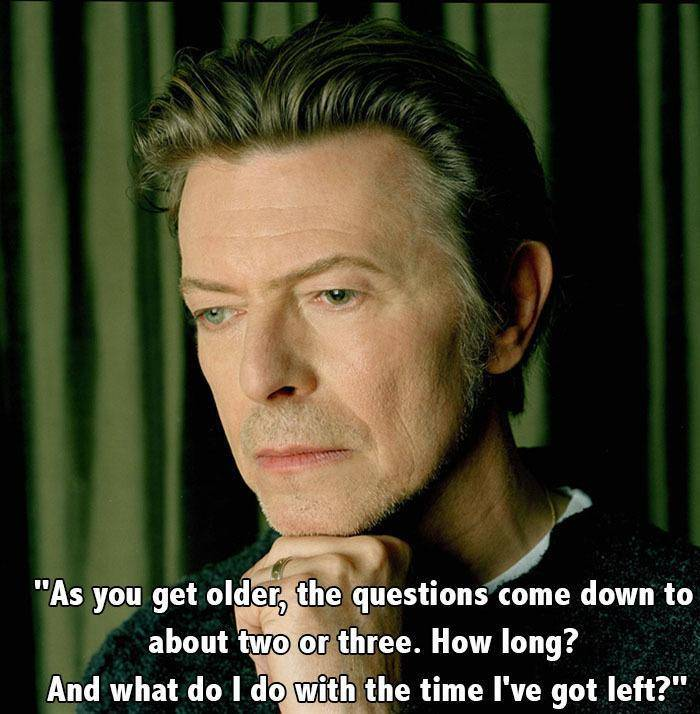 David Bowie Quotes Older