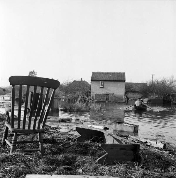 Debris By Floodwater