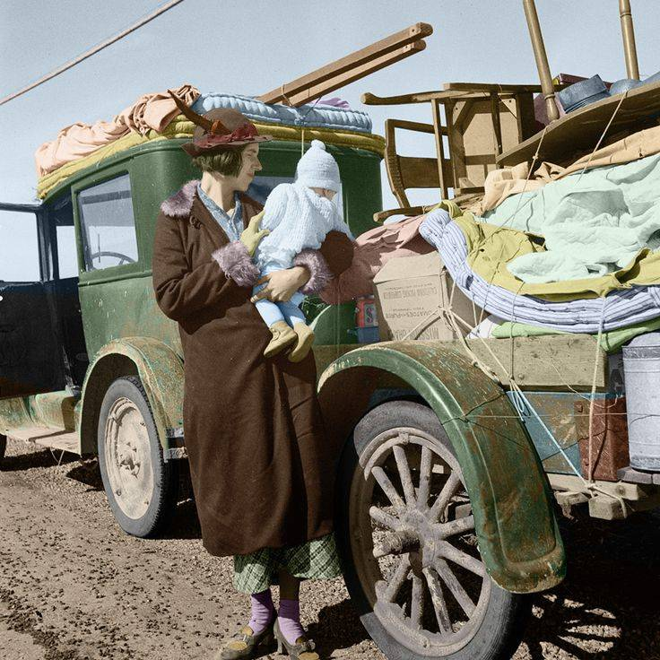 Dustbowl Migrant Family