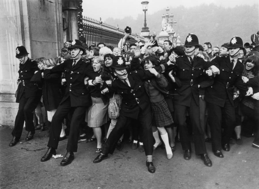 Fans Break Through Police