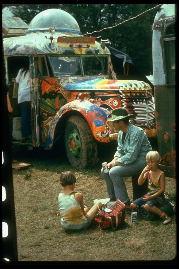 Further Bus At Woodstock Hippies