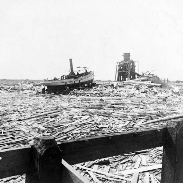 Galveston Hurricane Wreckage