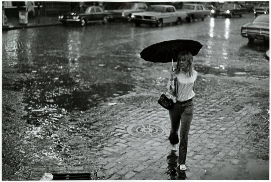 Girl Caught In The Rain