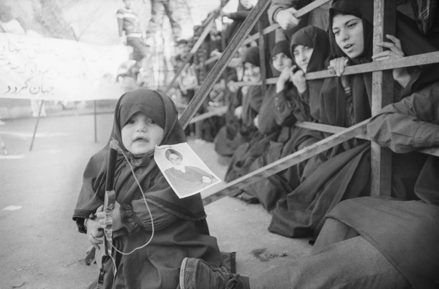 Girl Gun Iranian Revolution
