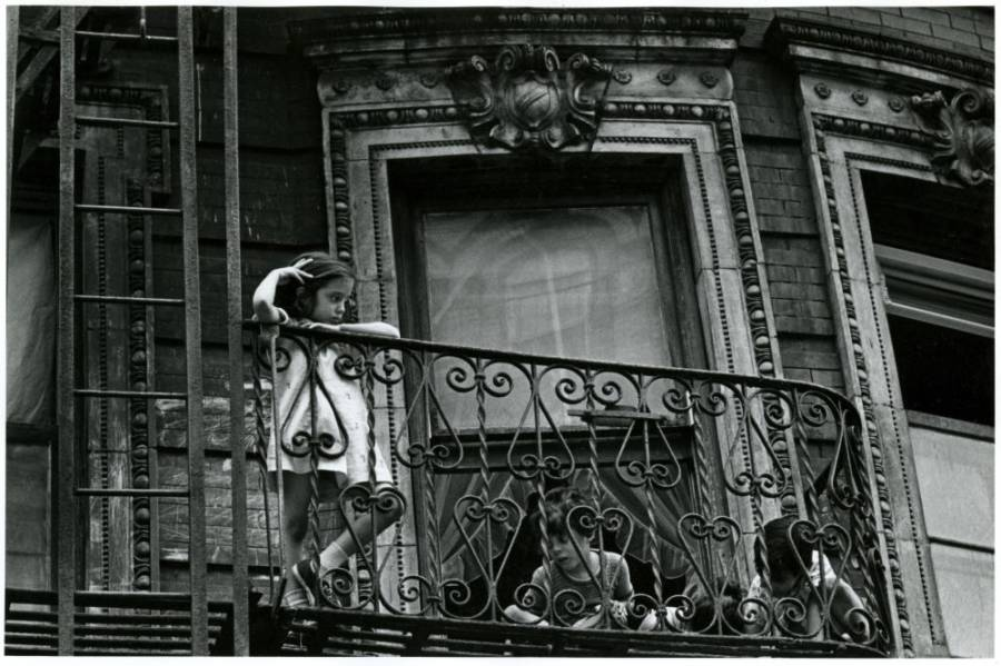 Girl On Balcony