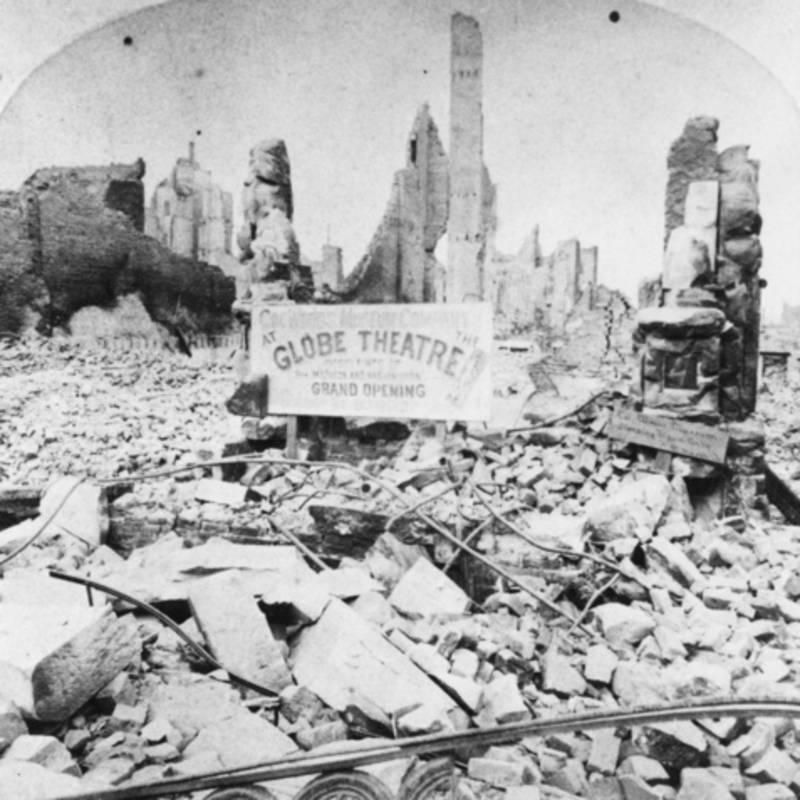 Globe Theatre Ruins Rubble