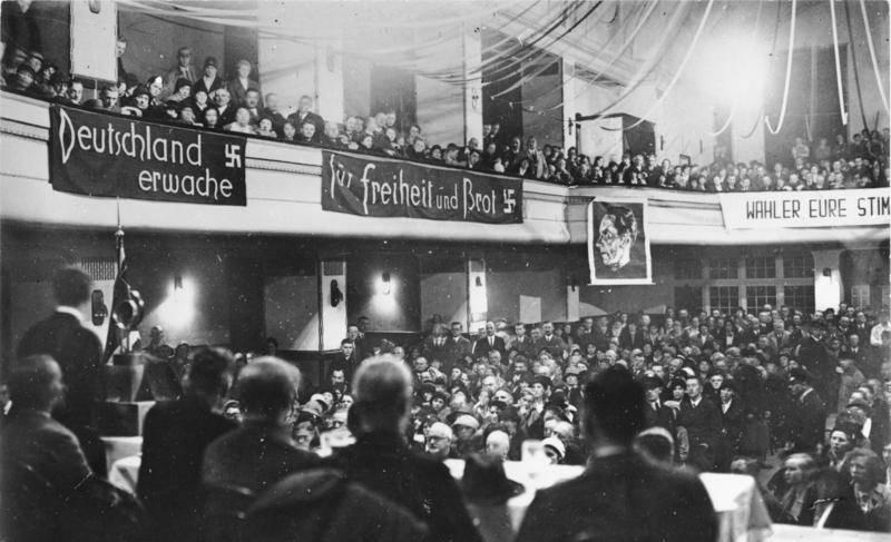 Goebbels Gives A Speech