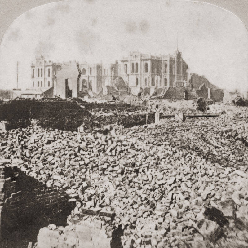 Great Chicago Fire Rubble