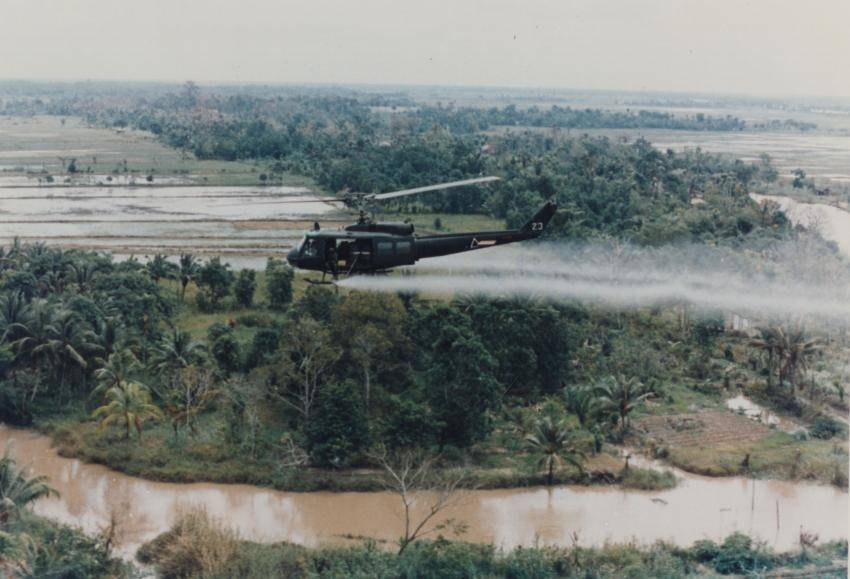 Helicopter Spraying Agent Orange