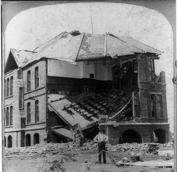 High School After Galveston Hurricane Of 1900