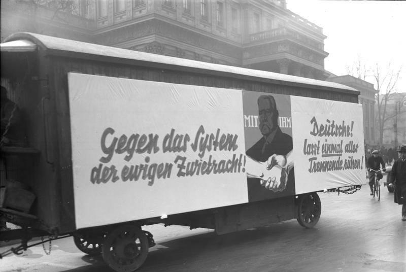 Hindenburg Sign On Truck