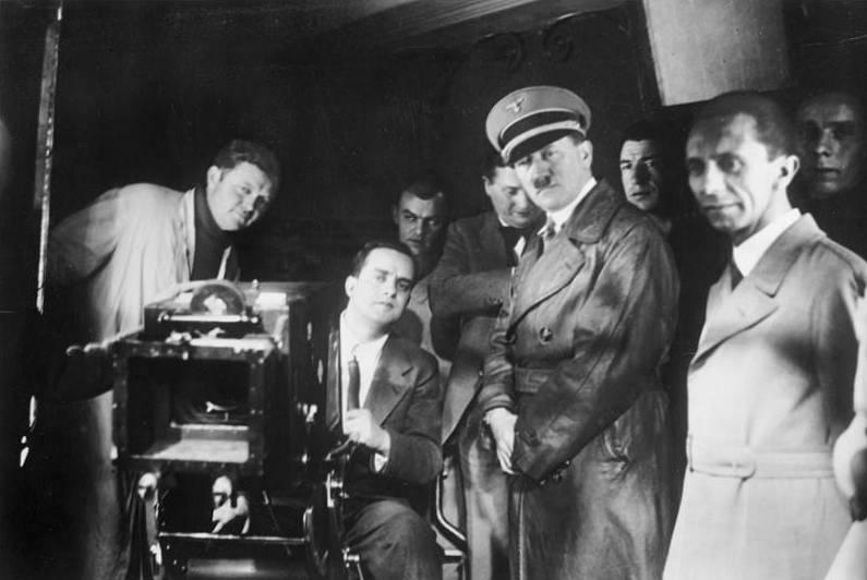 Hitler Goebbels Behind Camera