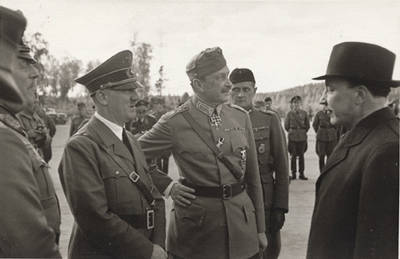 Adolf Hitler, Gustaf Mannerheim, And Risto Ryti
