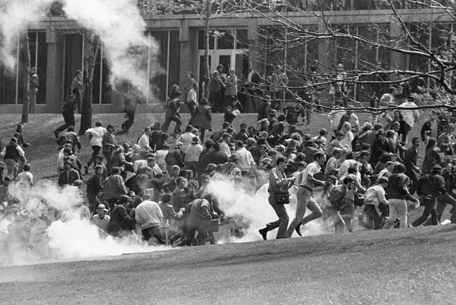 Kent State Protesters Flee