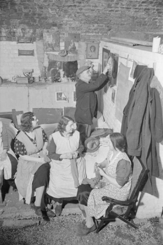 Knitting In Bomb Shelter