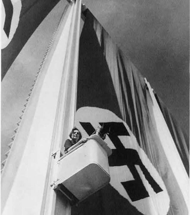 Leni Riefenstahl Nazi Flag