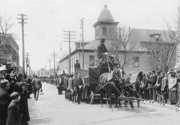 Ludlow Massacre Parading Coffins