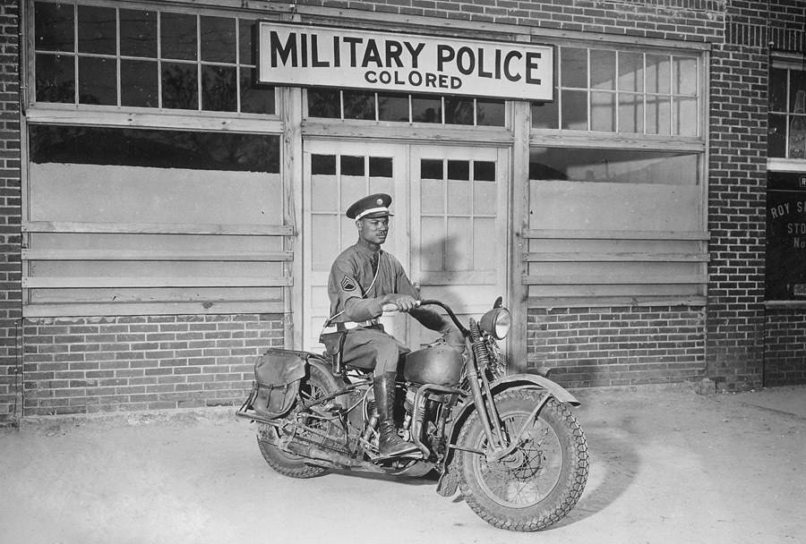 Military Police Motorcycle Sign
