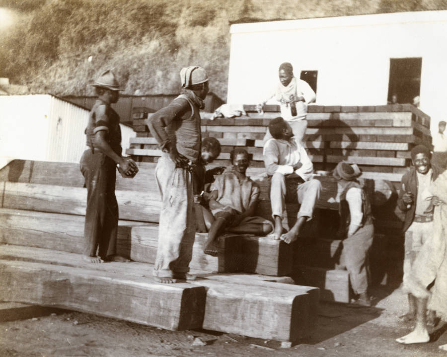 Native South Africans In Camp