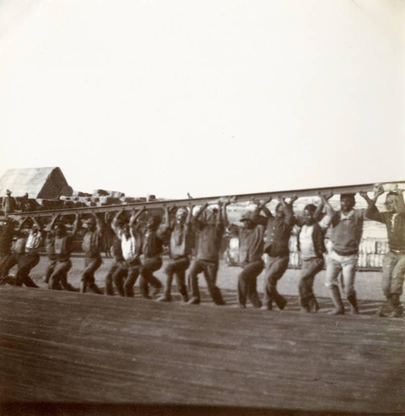Natives Raising Railway Lines