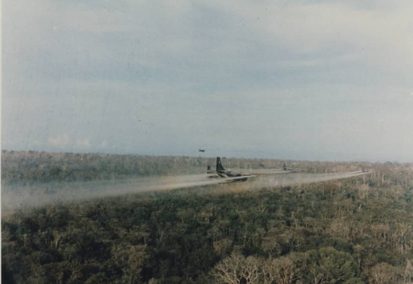Planes Spraying Agent Orange