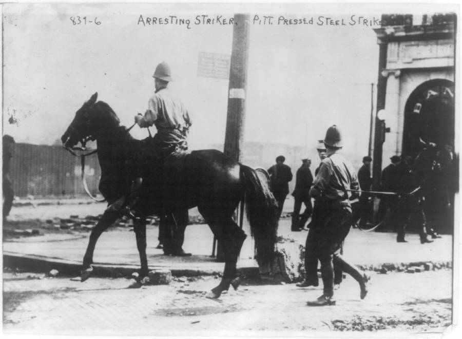 Police Arresting Striker