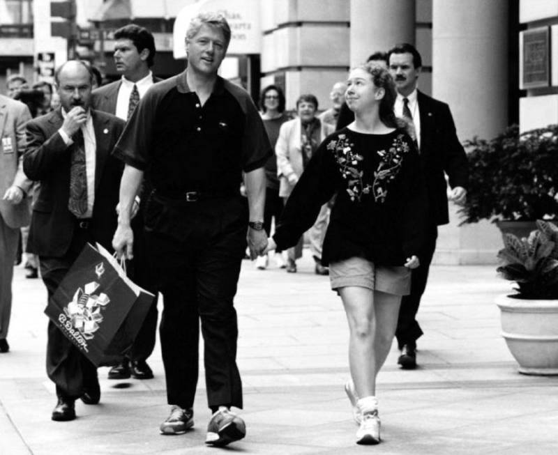 President Bill Clinton And Chelsea
