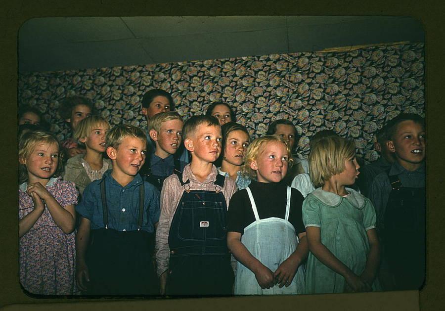School Children Singing