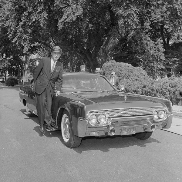 Secret Service Agent Next To Car