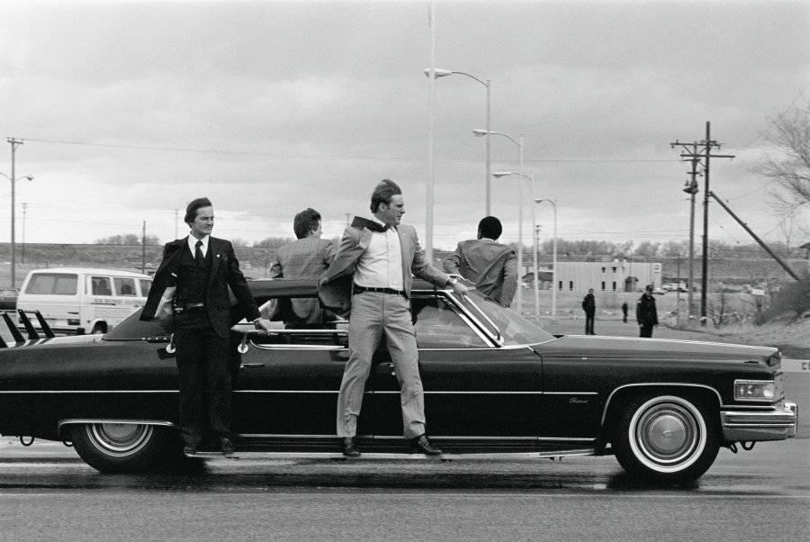 Secret Service Agents Riding Car