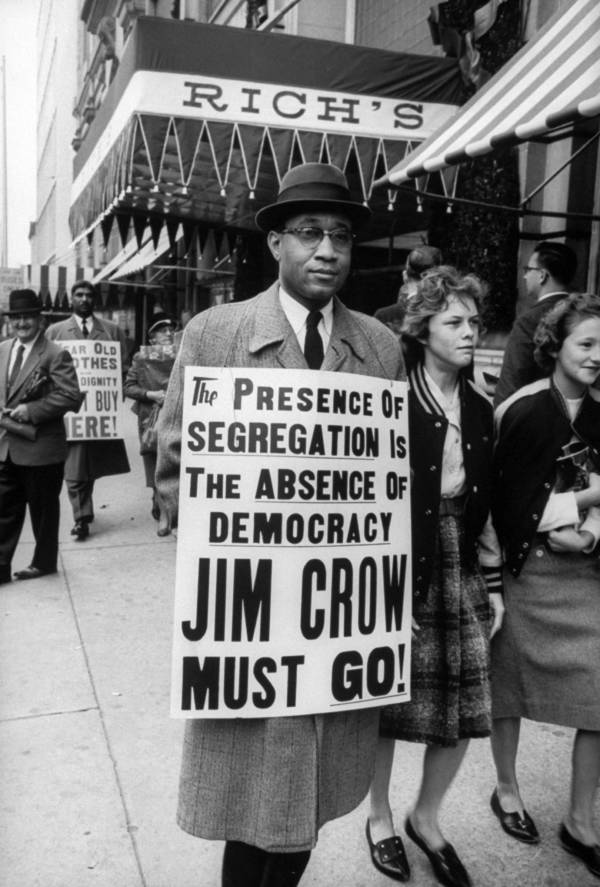 Segregation Sign Protest