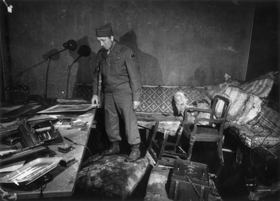 Soldier In Hitler Bunker