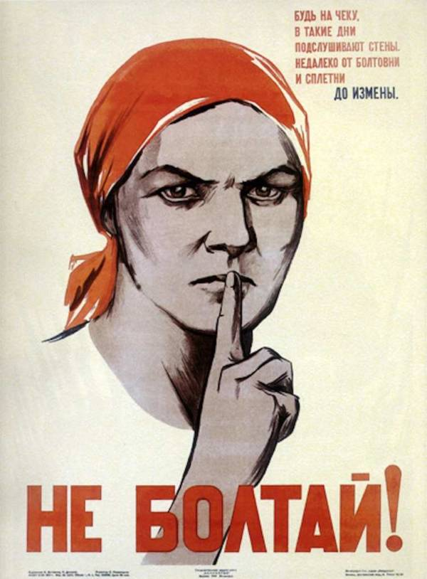 Soviet Shush Woman