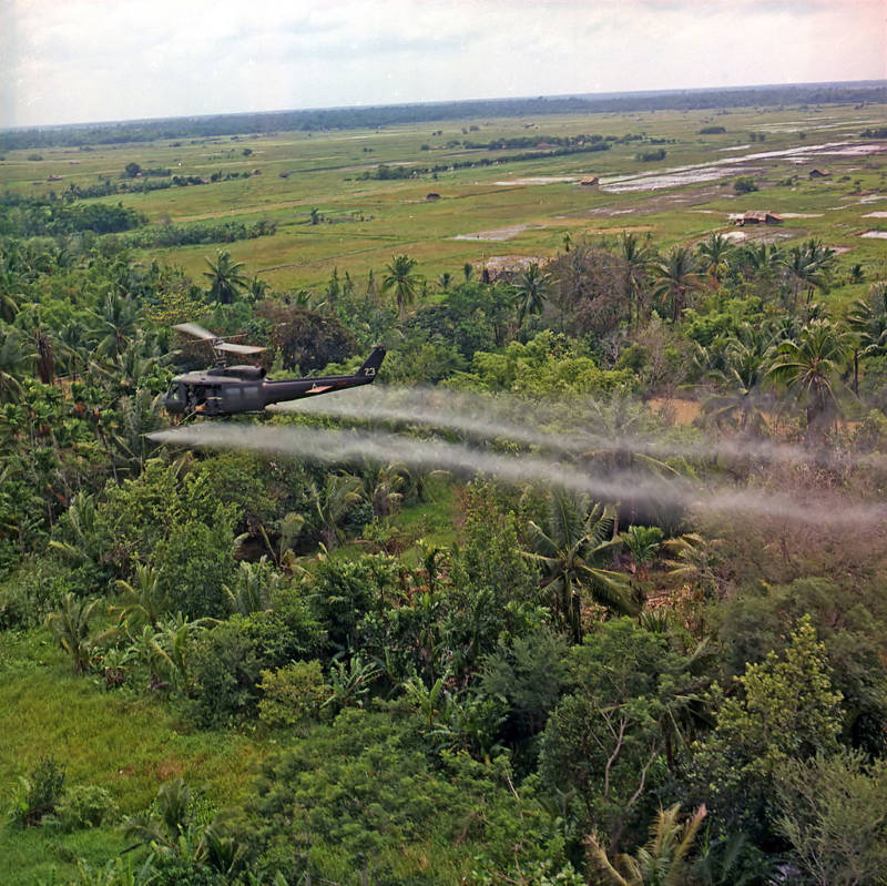 Spraying Defoliation Agent