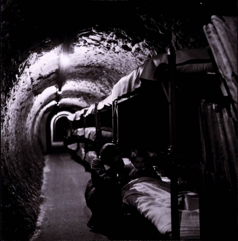 Subway Tunnel Shelter Beds