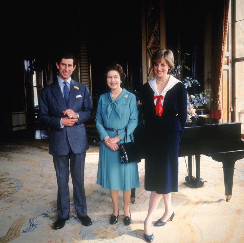 The Queen With Princess Diana