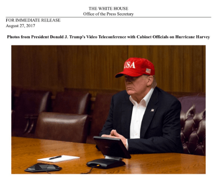 Trump Red Hat Press