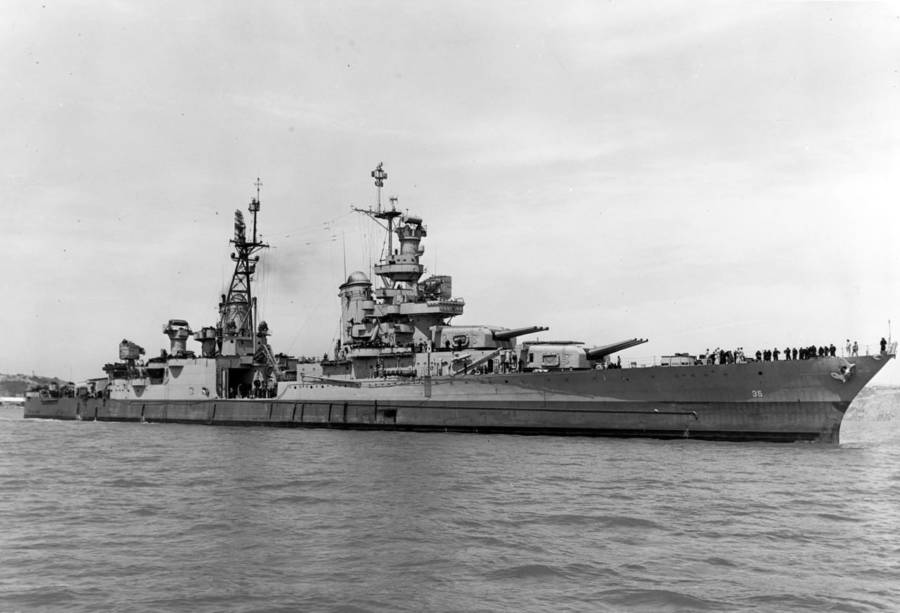 Uss Indianapolis In Water