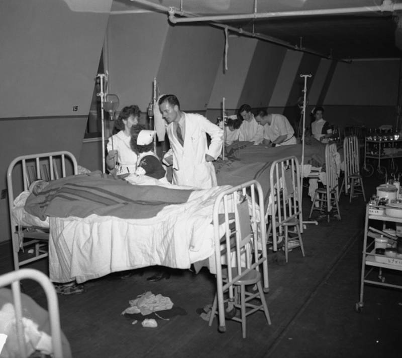 Victims Of The Fire In A Hospital
