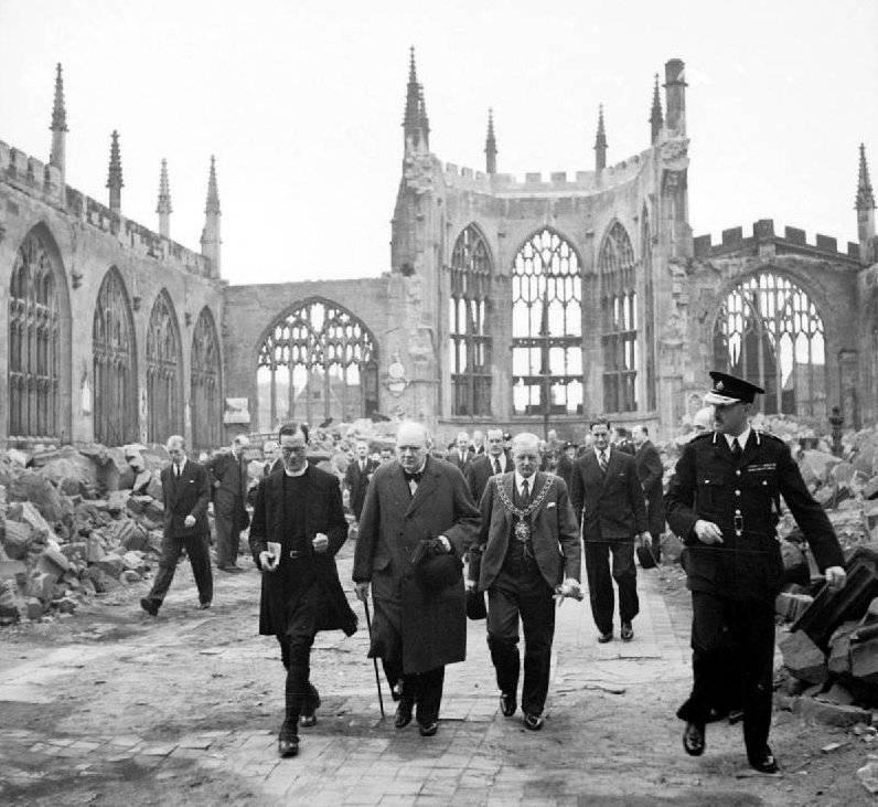 Winston Churchill At Ruins