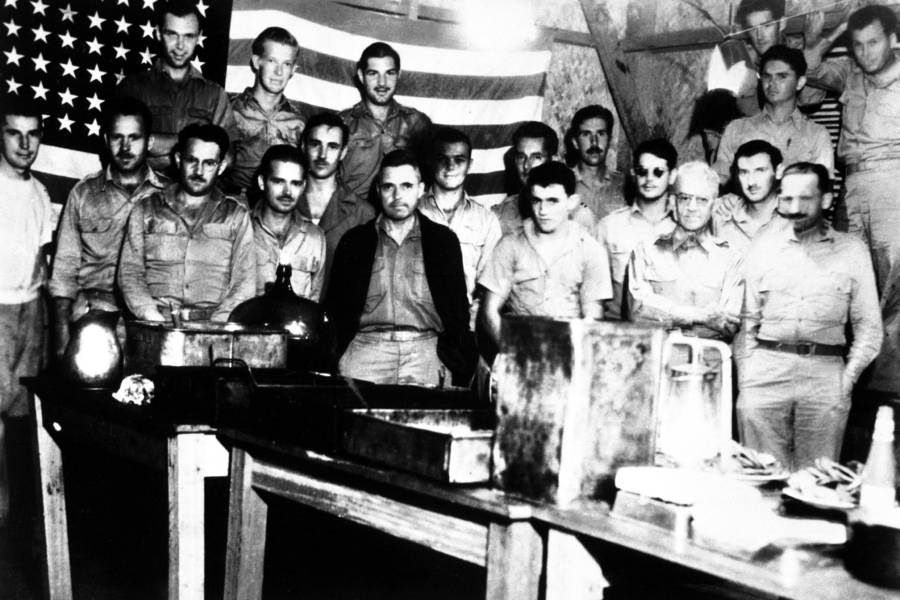 American prisoners of war celebrate the Fourth of July