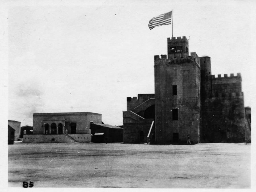 America flag over Fort Ozama